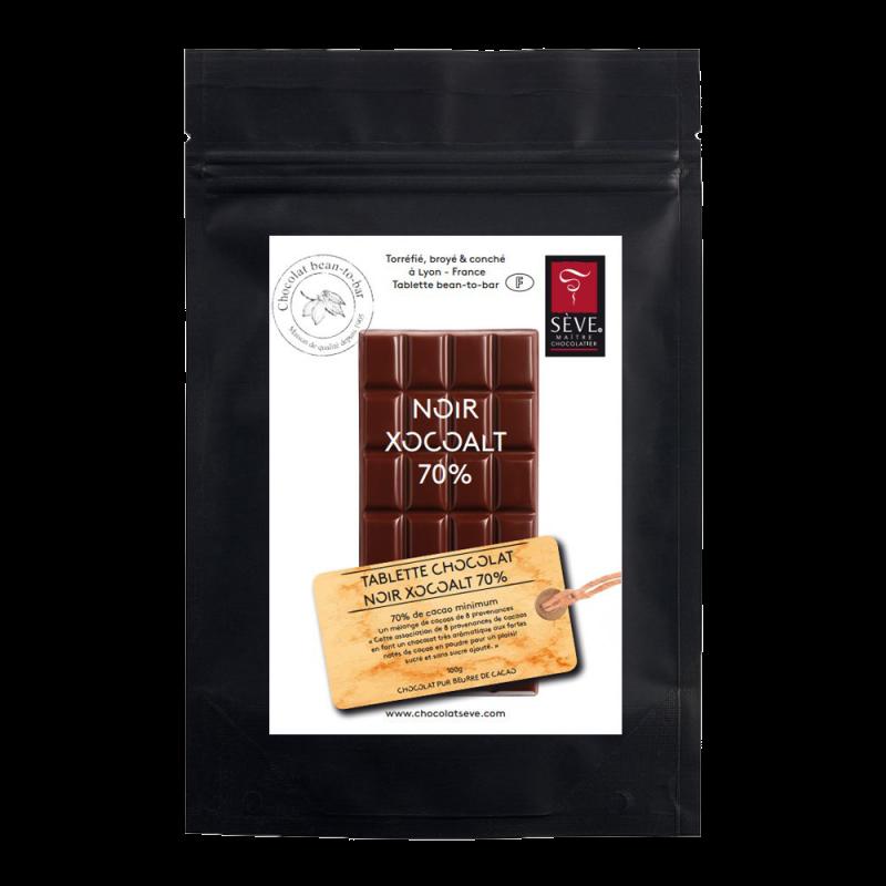 Tablette Xocoalt Fondant Noir Sans Sucre Ajouté 70%