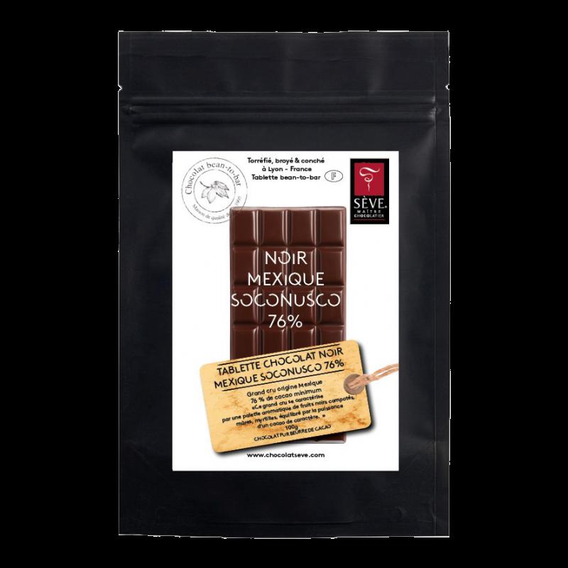 Tablette Noir Mexique Soconusco 76%