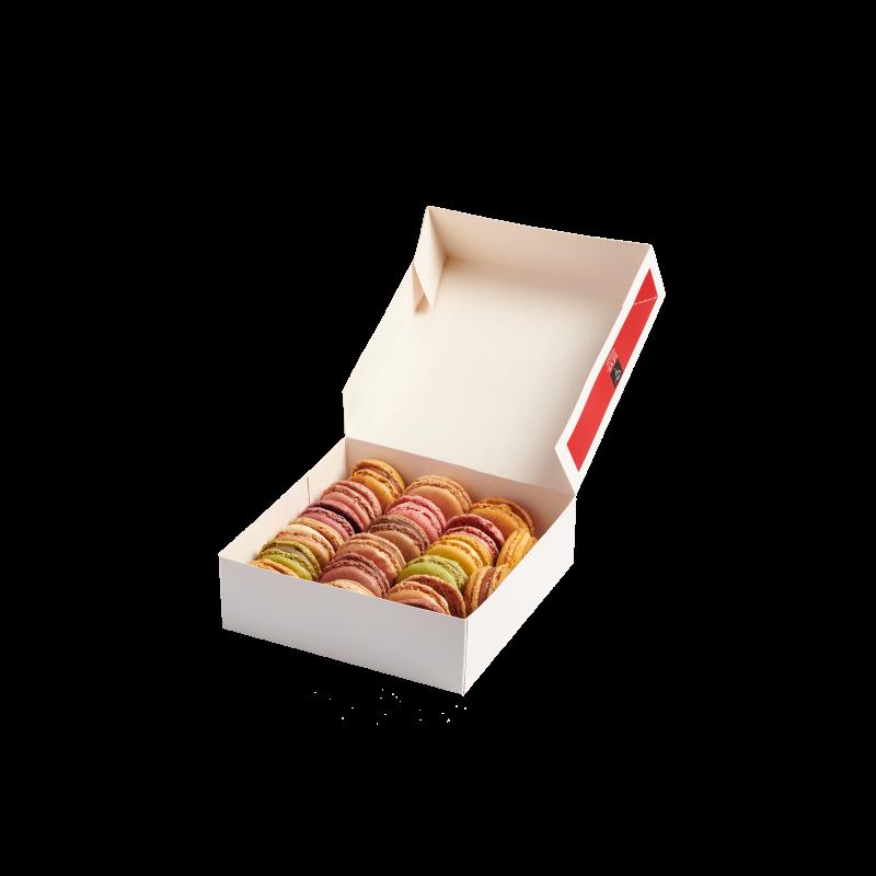 Macarons sucrés boîte pâtissière
