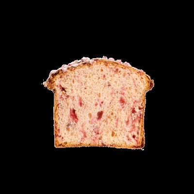 Panettone aux pralines rouges
