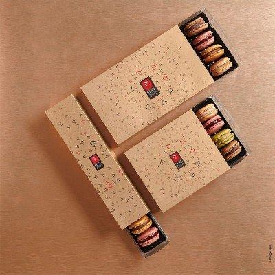 Macarons sucrés boite cadeau